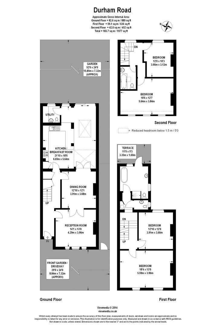 Floorplan for Durham Road, Wimbledon